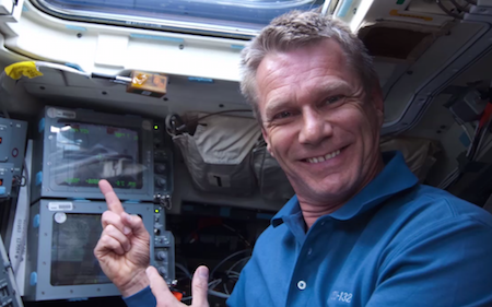 Piers Sellers in ISS