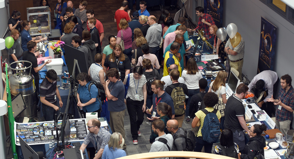 photo of crowds attending science jamboree