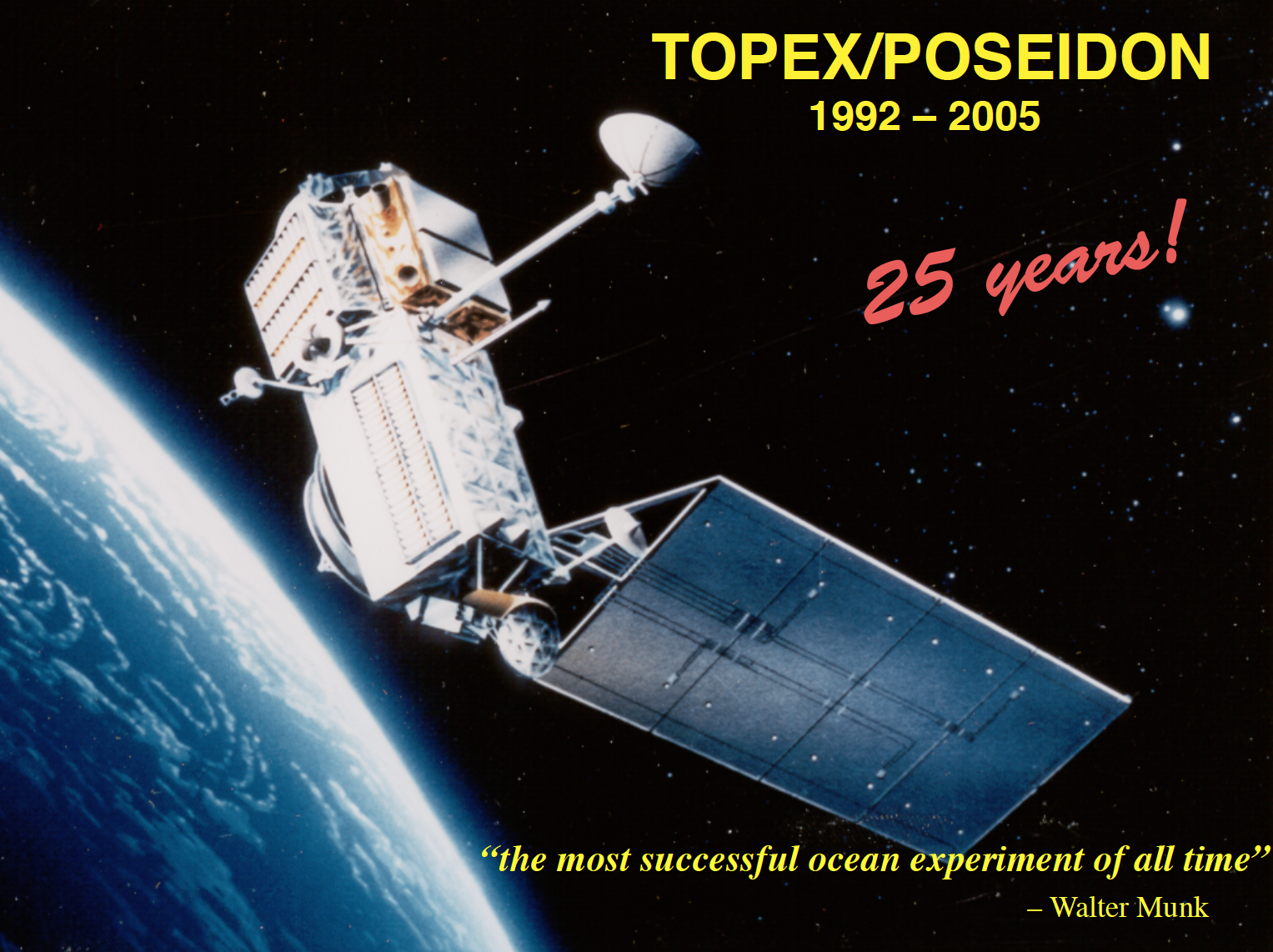 Poster Celebrating 25th Anniversary of TOPEX launch