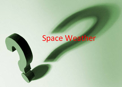 Image with question mark about space weather?