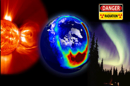 Image showing adverse space weather conditions.