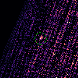 This image shows the X-ray outburst from the black hole MAXI J0637-043, detected by the REXIS instrument on NASA's OSIRIS-REx spacecraft.
