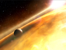 Artist's impression of the exoplanet, Fomalhaut b.