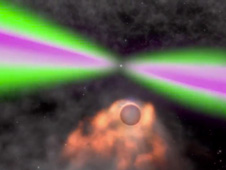 artist's conception of pulsar and companion