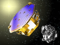 Illustration of the LISA Pathfinder spacecraft