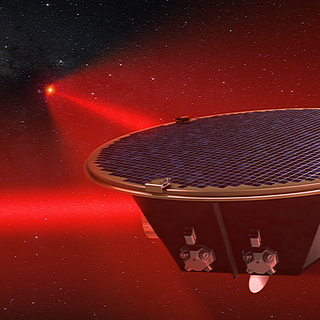 This illustration shows ESA's (the European Space Agency's) LISA observatory