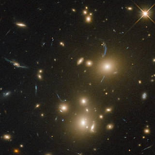 Hubble Captures Cluster of Galaxies and Homeless Stars