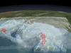 still image from 3-D animation of tropical storm Ida