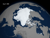 still image from animation about arctic sea ice cover