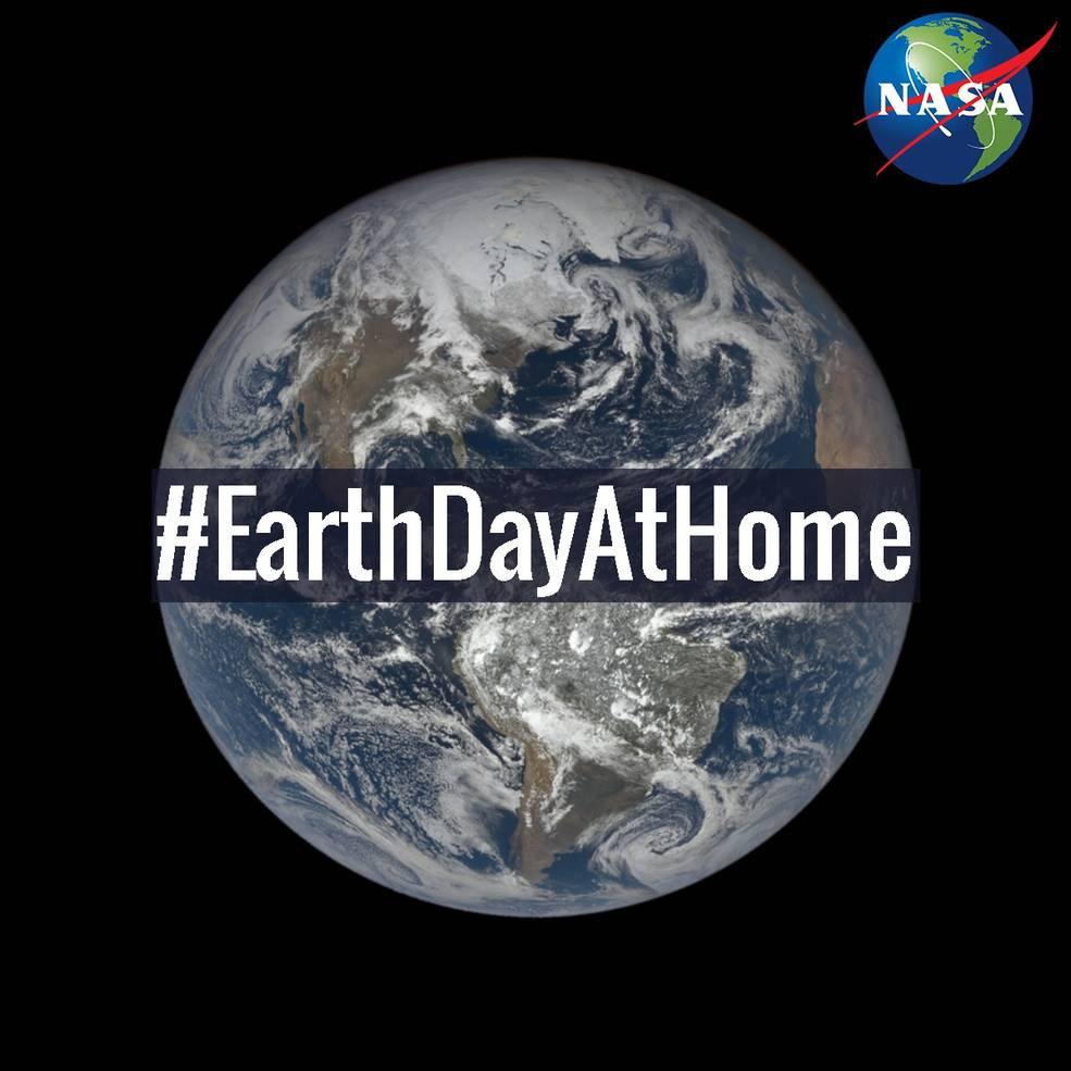 Earth Day at Home graphic