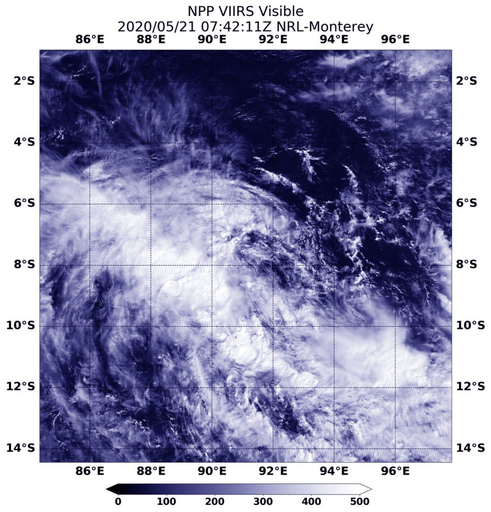 Suomi NPP satellite image of Tropical Storm 27S