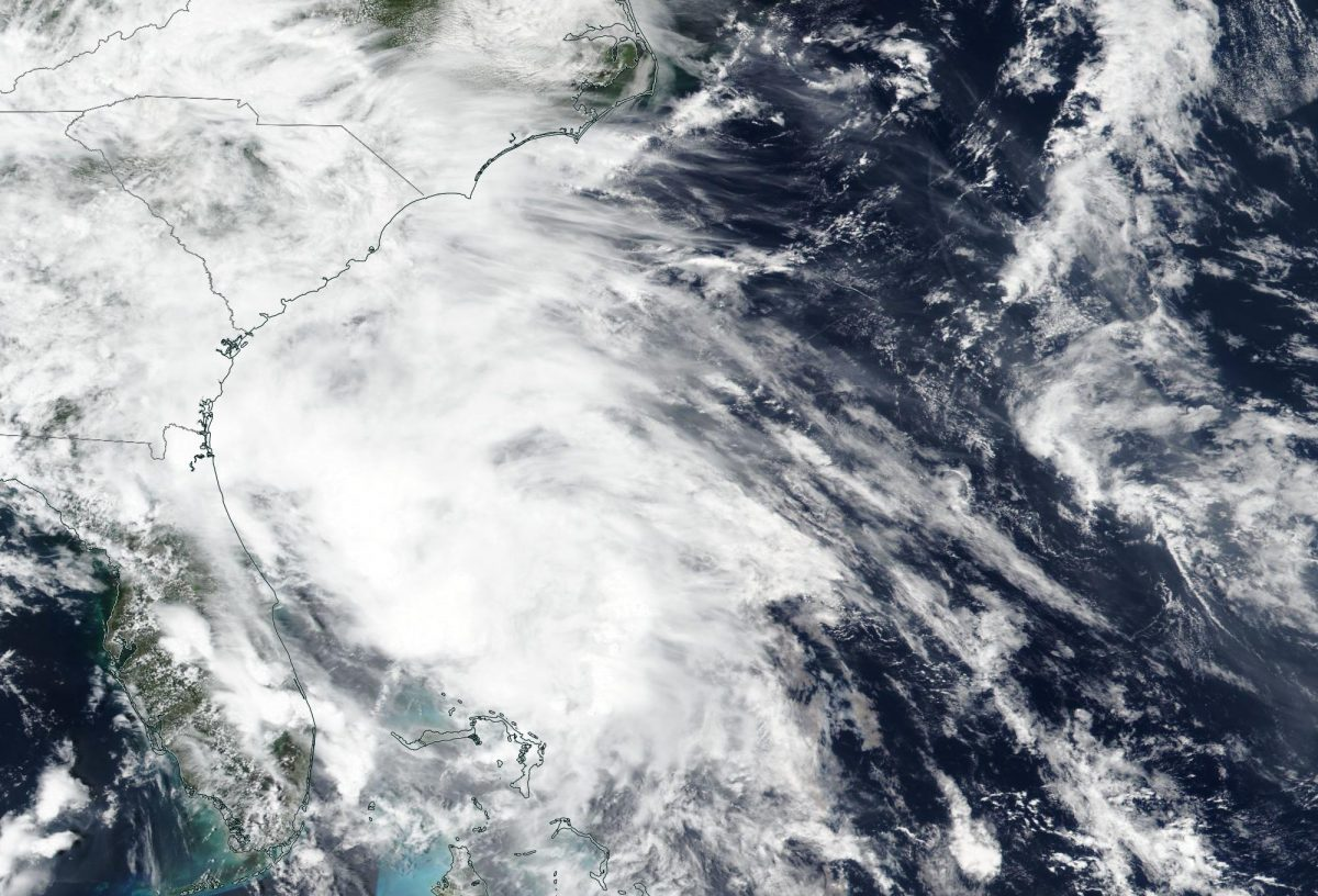 Suomi NPP satellite image of Tropical Storm Bertha