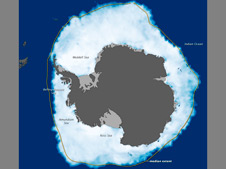Map of Antarctic Sea Ice