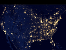 Composite image of U.S. night lights in October 2012