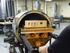 Photo of Research Scanning Polarimeter being loaded into the