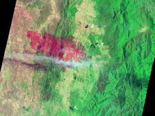 NASA Earth Observatory image of Yarrabin fire using EO-1 ALI data