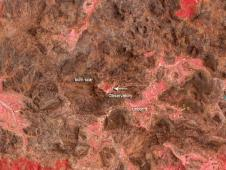 Terra satellite image of bushfire across from Siding Spring Observatory