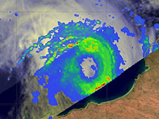 TRMM image of Rusty rainfall