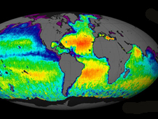 The Aquarius team released last September this first global map of ocean saltiness, a composite of the first two and a half weeks of data since the instrument became operational on August 25.