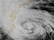 Thumbnail image of Hurricane Sany approaching Atlantic coast of U.S.
