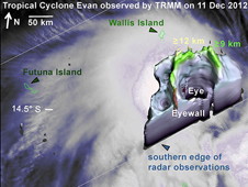 TRMM image of Cyclone Evan