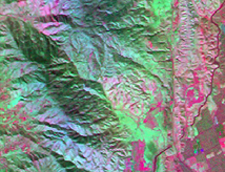 MASTER data composite image of San Andreas fault area