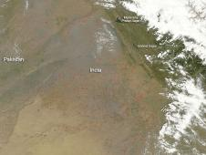 Terra image of northeastern Indian fires