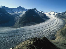 Photo of Aletsch Glacier in Switzerland
