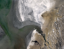 Natural color image of Aral Sea from LDCM