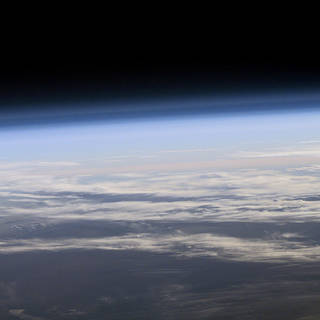 Image of view of Earth's atmosphere from space