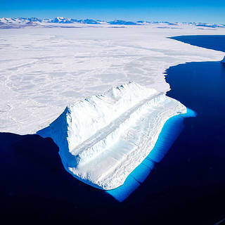 Image of an iceberg floating in Antarctica's McMurdo Sound.