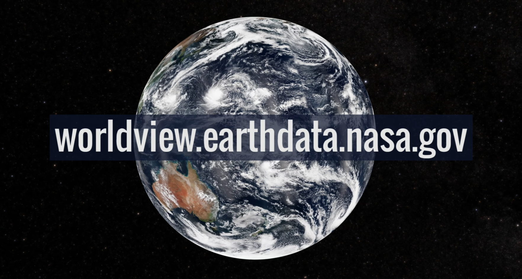 Earth with worldview url