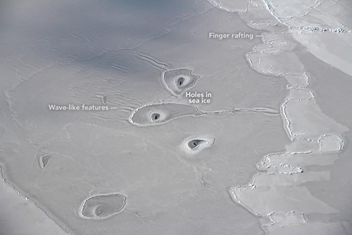 Photograph of ice formations in the eastern Beaufort Sea