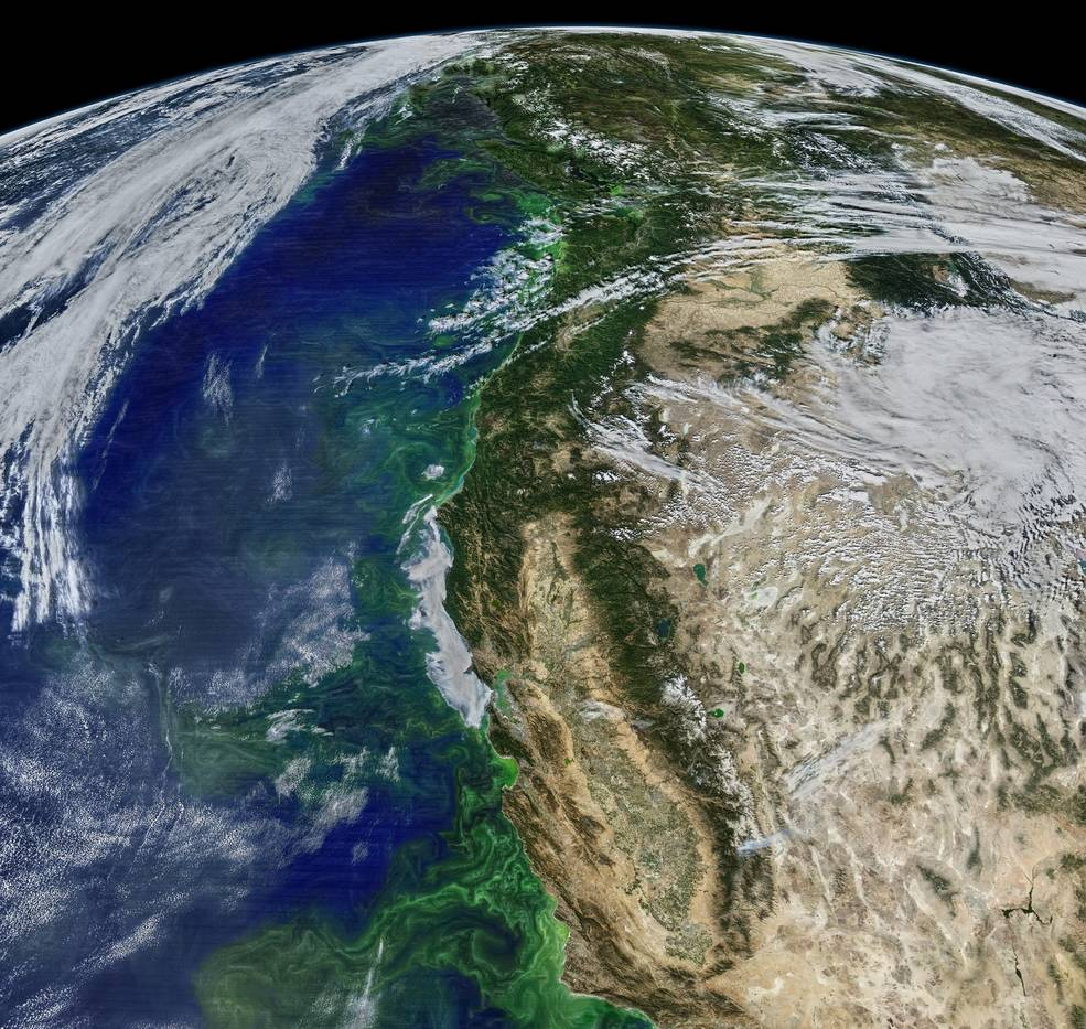 Aqua satellite image of Pacific Ocean
