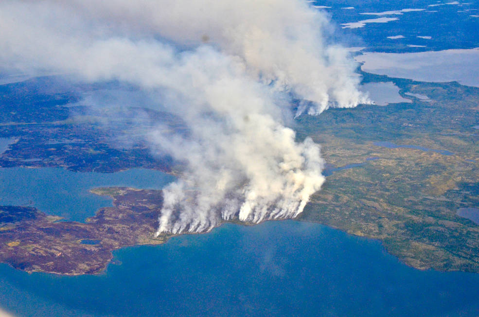 Photo of megafires burning in Canada's Northwest Territories