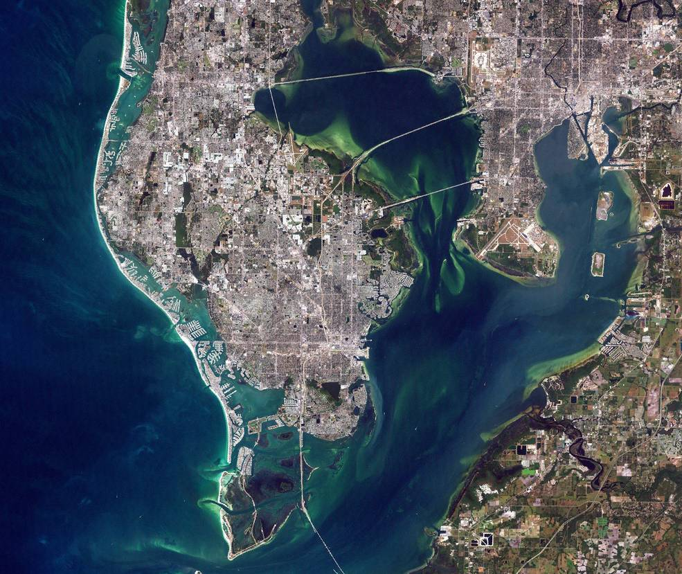 Landsat 8 satellite image of Florida