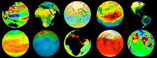 Composit of various Earth images