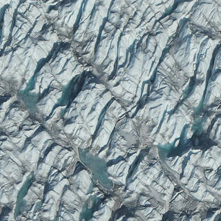 Close-up image of snow and ice on the Greenland ice sheet