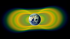 artist's conception of radiation belts around Earth
