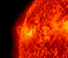 NASA's Solar Dynamics Observatory captured this image of the X1.2 class solar flare on May 14, 2013.