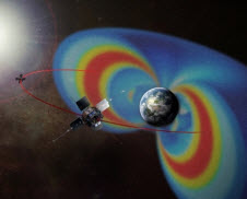 The twin Van Allen Probes circle through the radiation belts surrounding Earth to help scientists study what processes can accelerate particles there near to the speed of light.