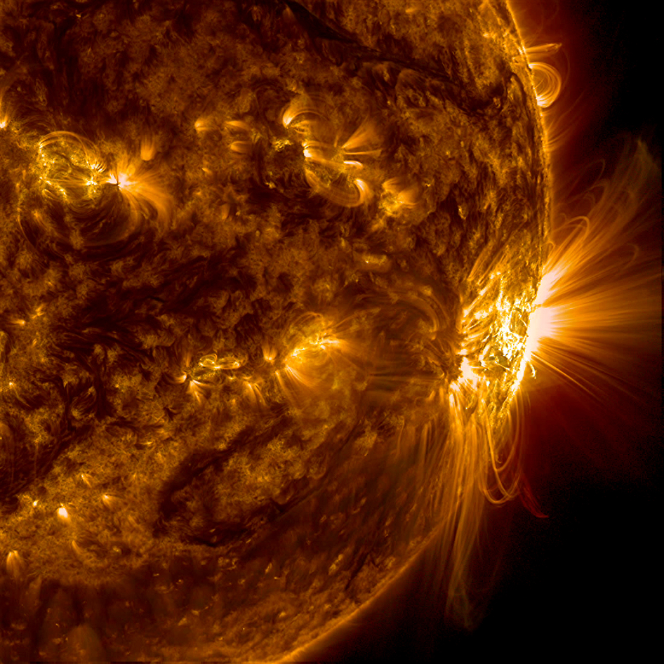 SDO captures the largest sunspot group of Solar Cycle 24, which  rotated over to the edge of the Sun  (Oct. 26 - 29, 2014).