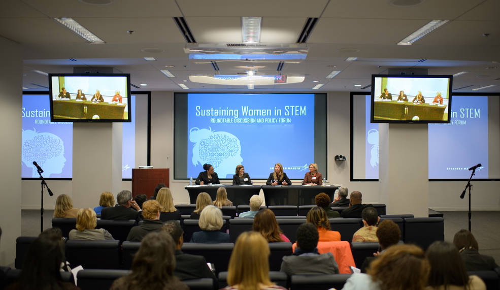 Photo of participants in the Sustaining Women in STEM roundtable