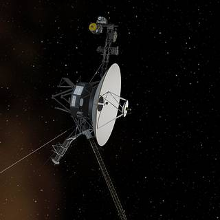 Artist concept of Voyager in space
