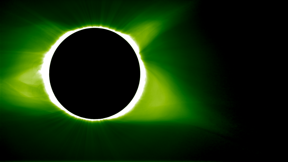 photo of solar eclipse