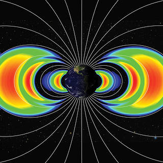 Graphic of radiation belts around Earth