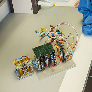 Photo of cubesat electronics