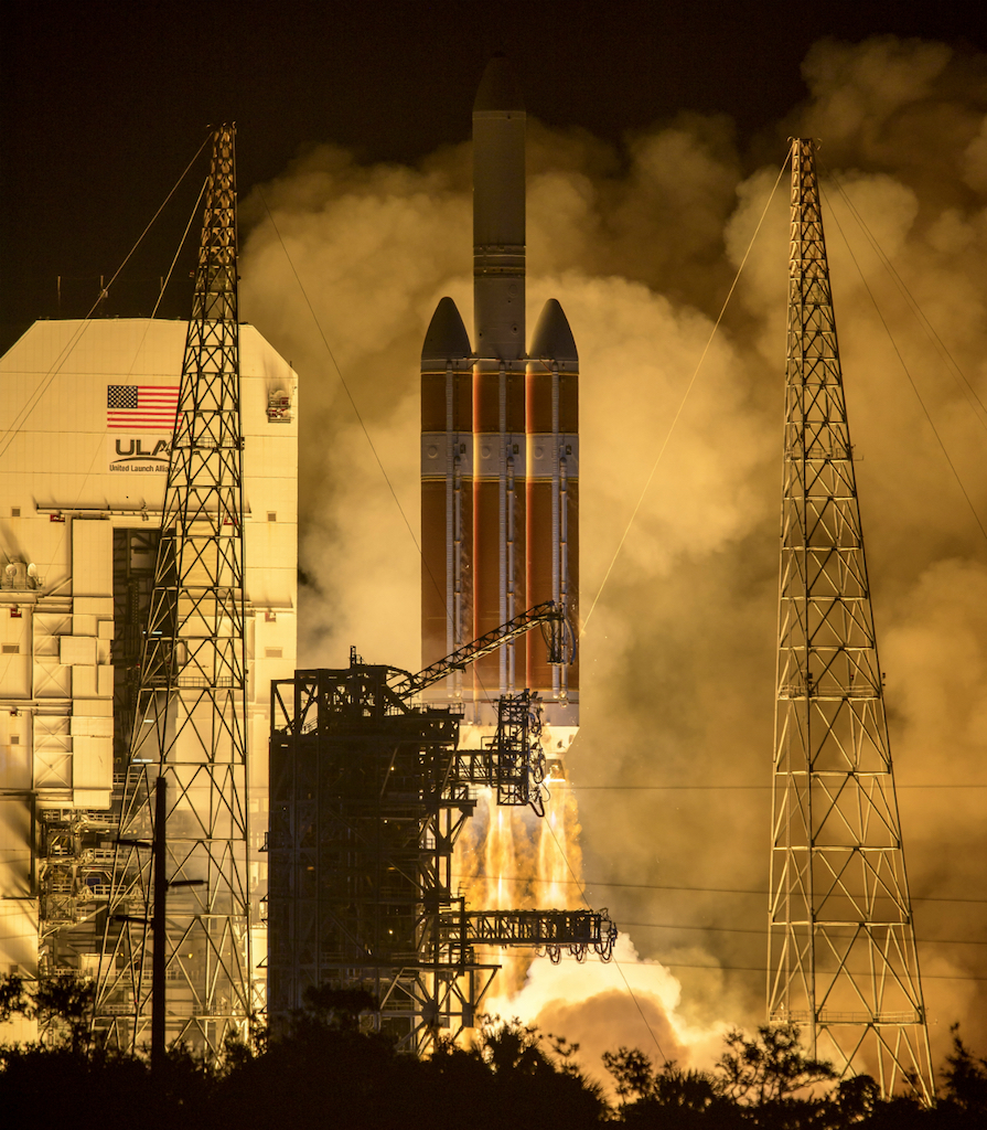 Photo of Parker Solar Probe launch