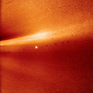 This image from Parker Solar Probe's WISPR (Wide-field Imager for Solar Probe) instrument shows a coronal streamer