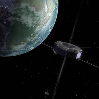 Artist's conception of MMS in orbit near the Earth